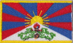 Tibet Embroidered Flag Patch, style 04